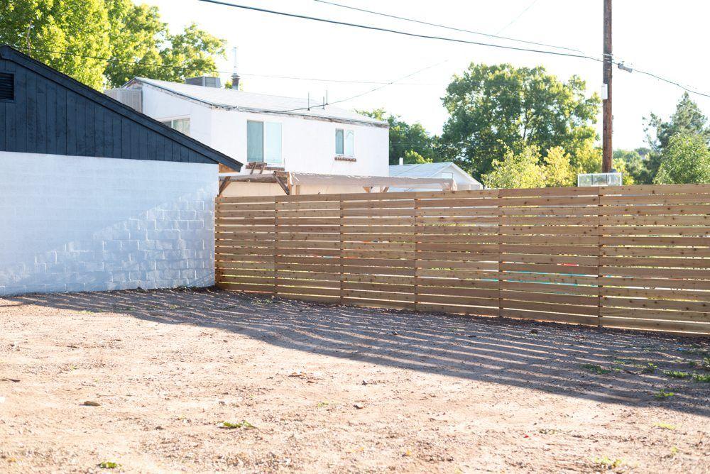 Horizontal Slatted Fence + My FAVORITE DIY App Fence