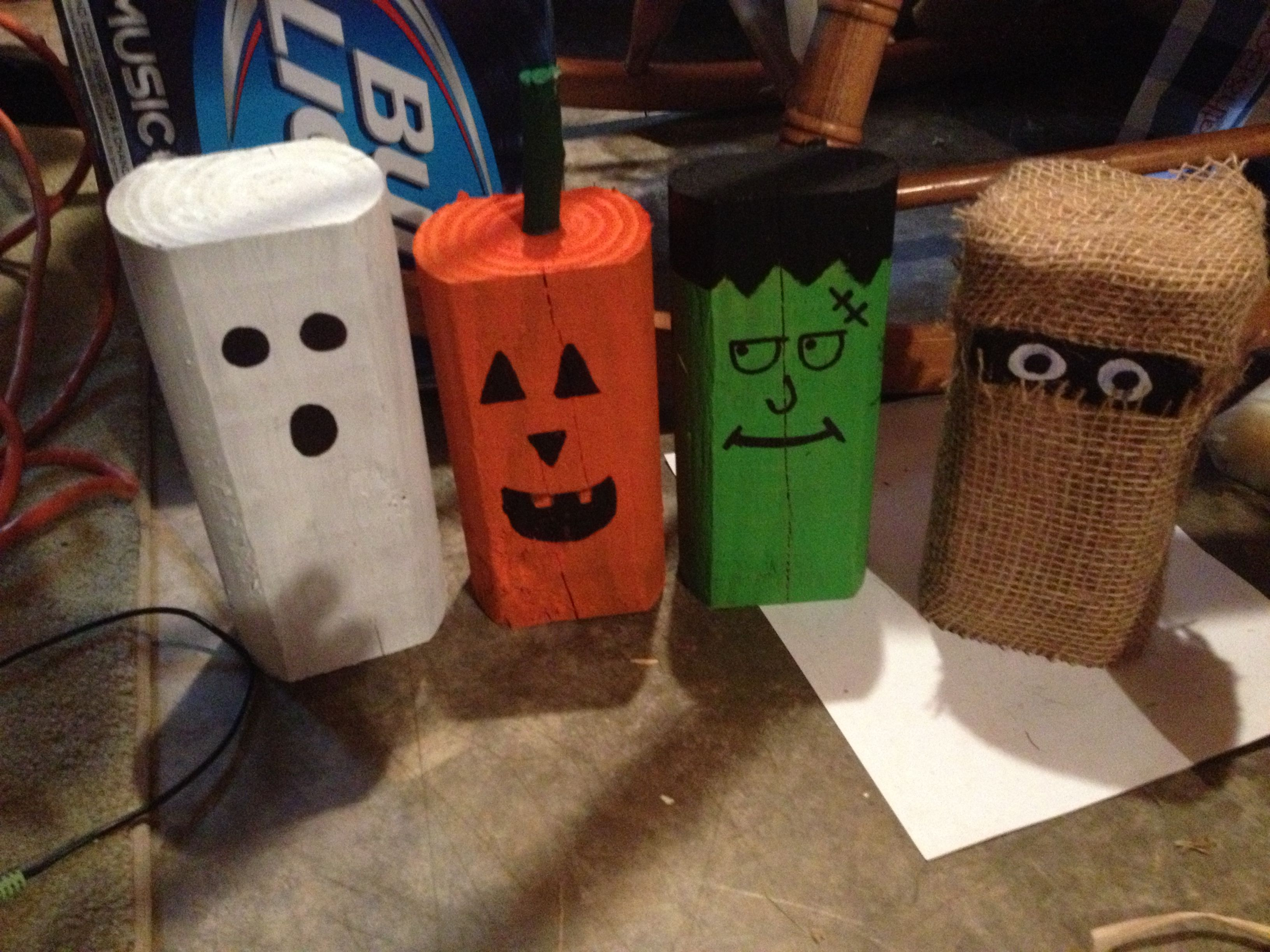 primitive crafts halloween decor made from landscape timbers just add paint