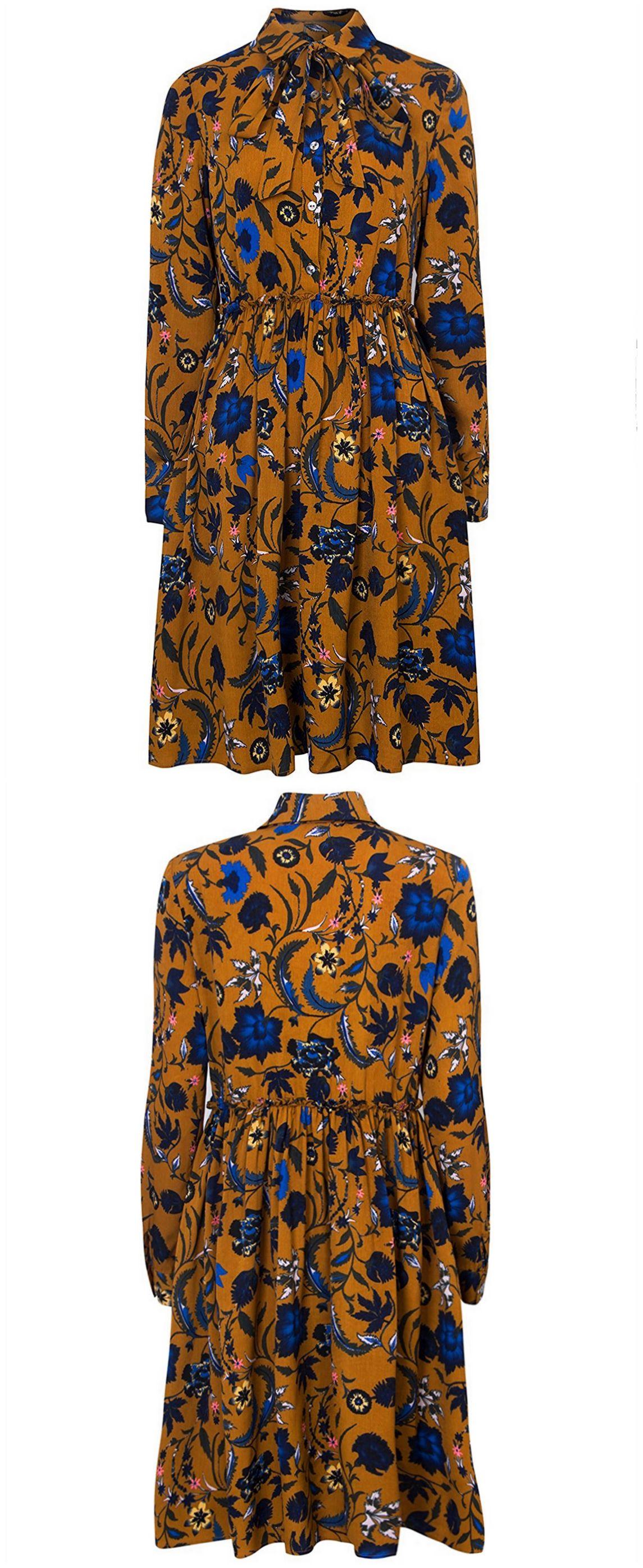 815cc64d11 Floral Print Long Sleeve Shirt Dress - Joe Maloy