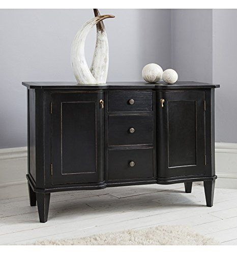 bergere french shabby chic black painted sideboard dresser amazon rh pinterest co uk