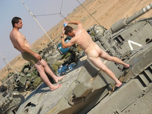 Bathing On The Tank Military Men Surfer Dude Frat Boy