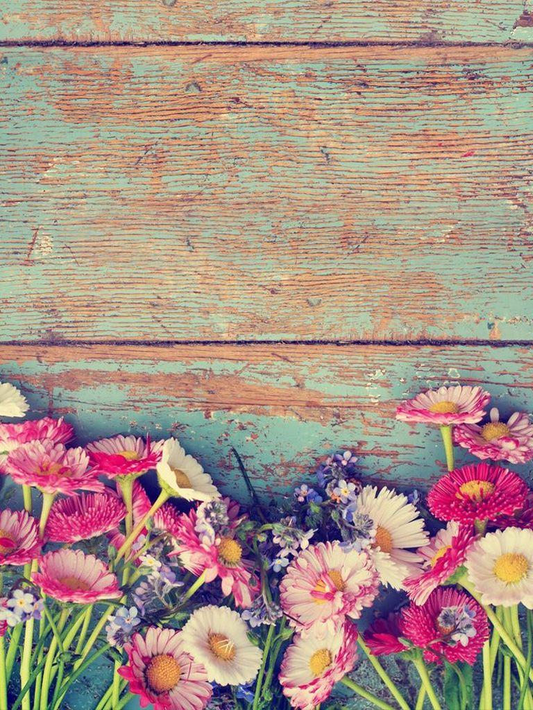 Flowers and Wood iPad Mini Resolution 768 x 1024 Ipad
