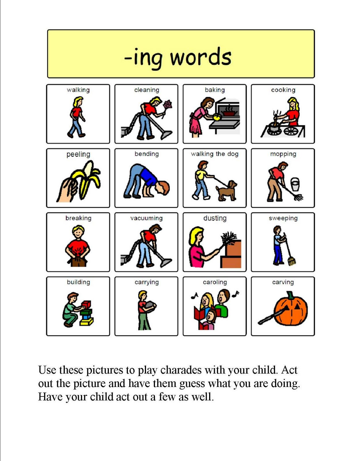 Speech Therapy With Miss Nicole Ing Verbs Verbs Speech Therapy Speech Language Activities Speech Therapy Activities [ 1600 x 1236 Pixel ]