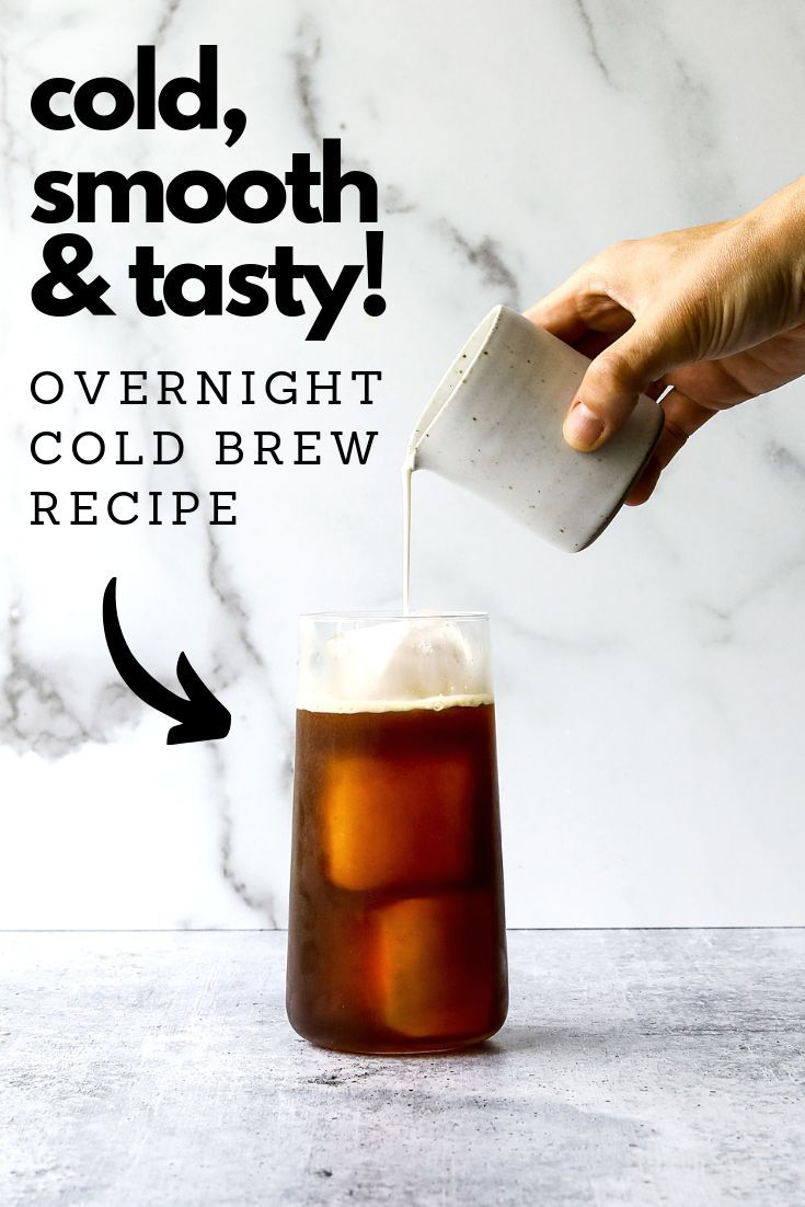 Ice cold and refreshing cold brew coffee is easy to make at home! Save yourself a trip to the coffee shop with this //