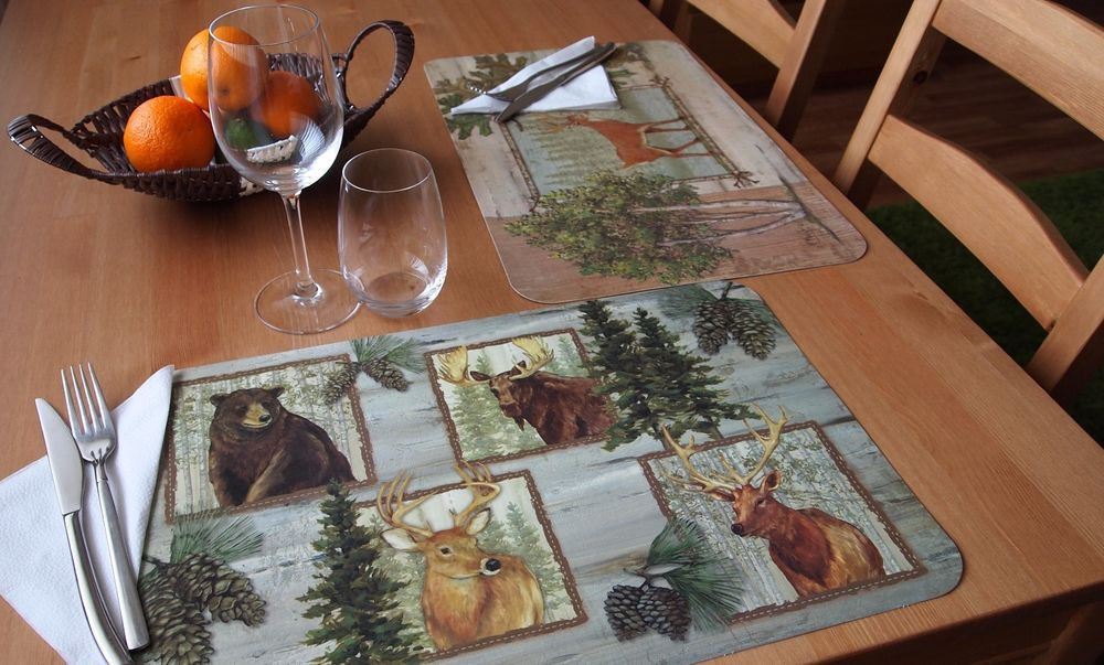 Incroyable CounterArt Reversible Extra Large Table Placemats U201cForest Trailsu201d  Set Of 4