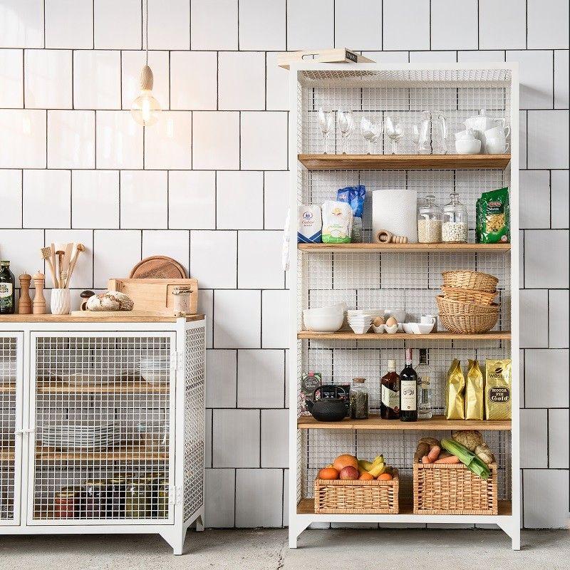 Küchen Ideen Einrichtung - CLATRI Regal aus Metall und Holz ...