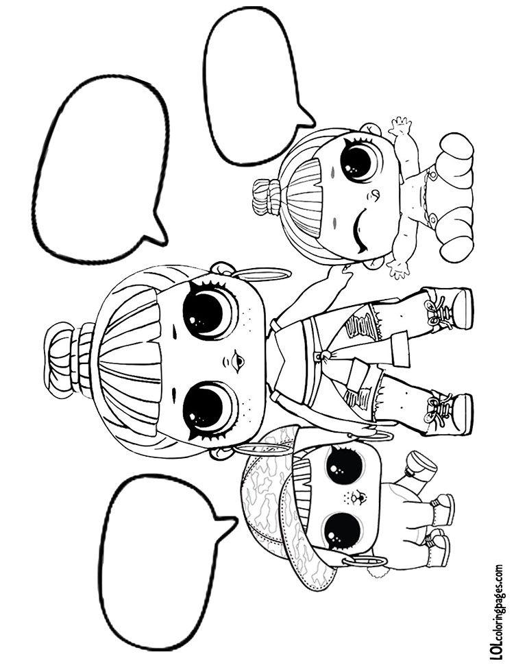 Honey Bun, Lil Honey Bun, and Bunny Hun Coloring page | Big Eyed ...