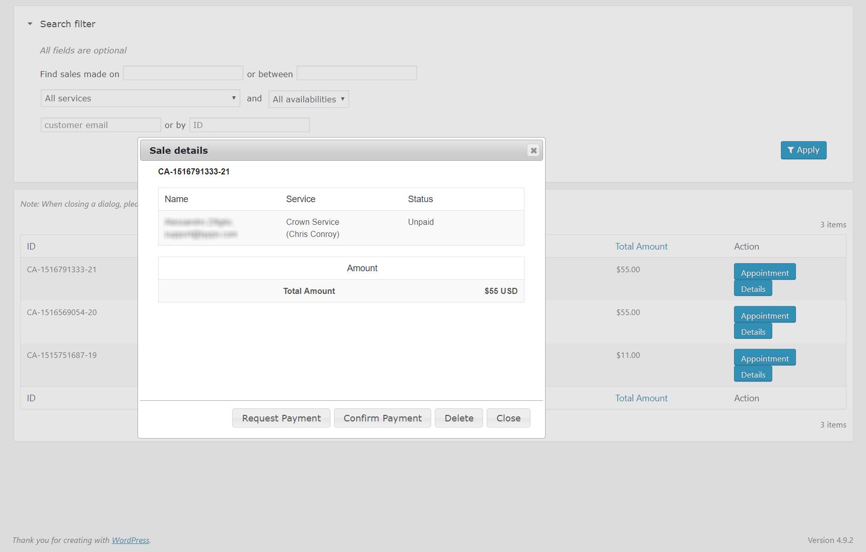Calendarista Premium WP Appointment Booking Plugin and