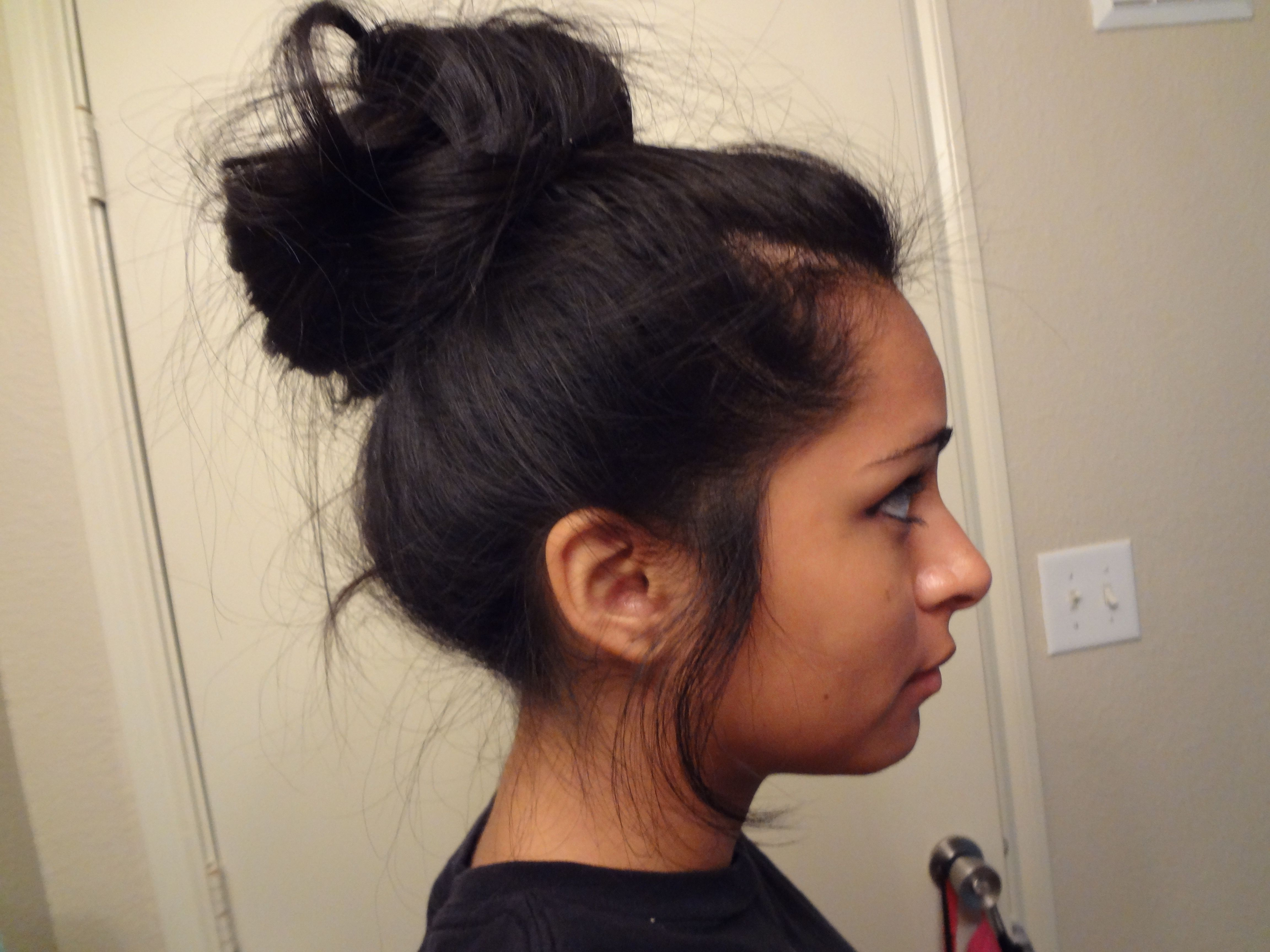 High Bun For Girls With Freaking Long Hair Like Me  Hairstyles  Black Hair Bun, Hair -5323