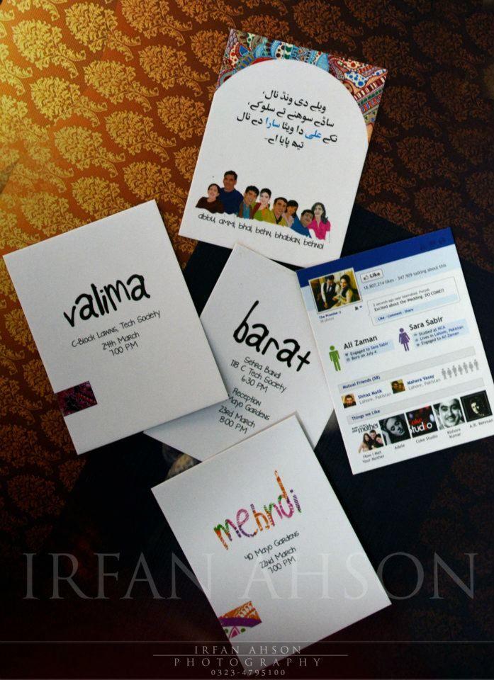 Creative Wedding Valima Invitation Card Ideas Pakistan
