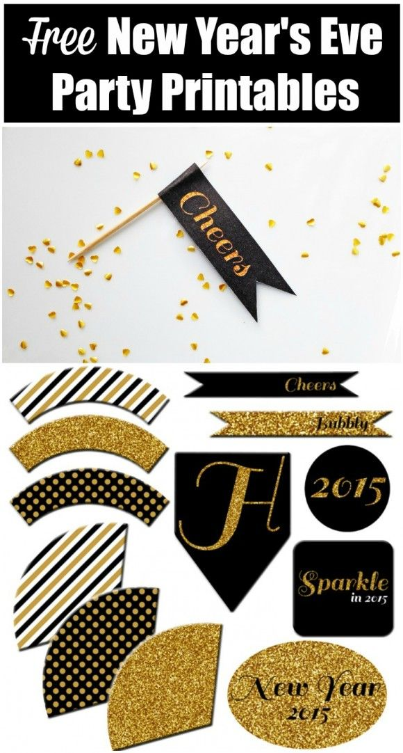Free New Year S Eve Party Printables New Years Eve Party New Year S Eve Celebrations New Years Eve