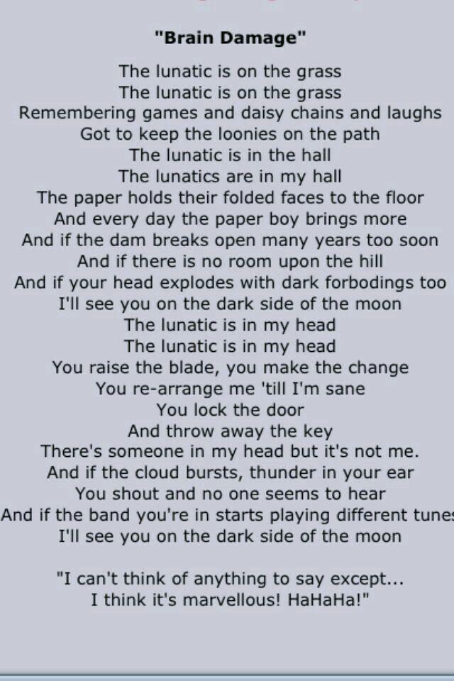 Pin By Lance Stofregen On Pink Floyd Pink Floyd Lyrics Pink