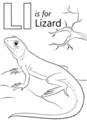 Letter L is for Lizard Coloring page #amphibians #