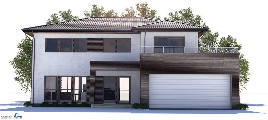 Modern home with open planning three bedrooms covered for Modern open house plans