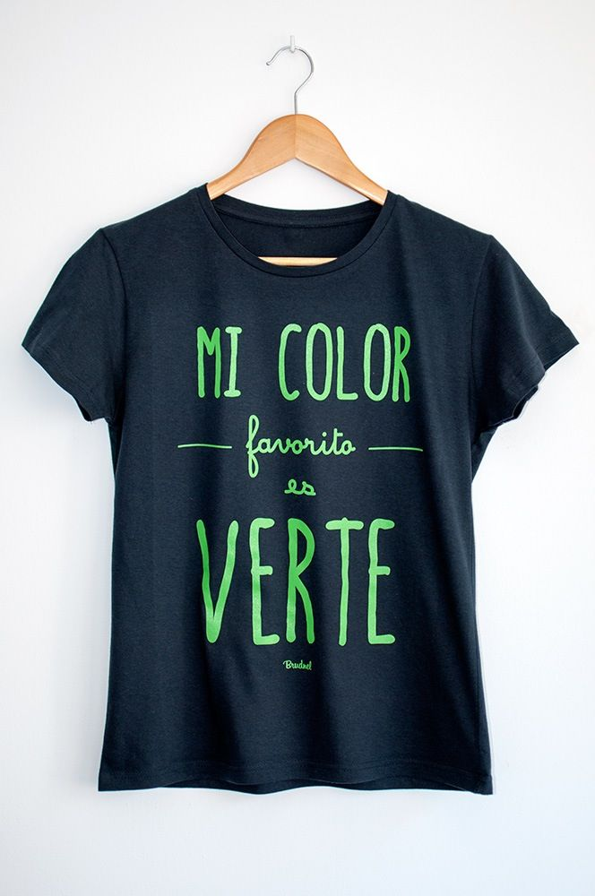 Camiseta Mi Color Favorito es Verte  caba62adf0f8f