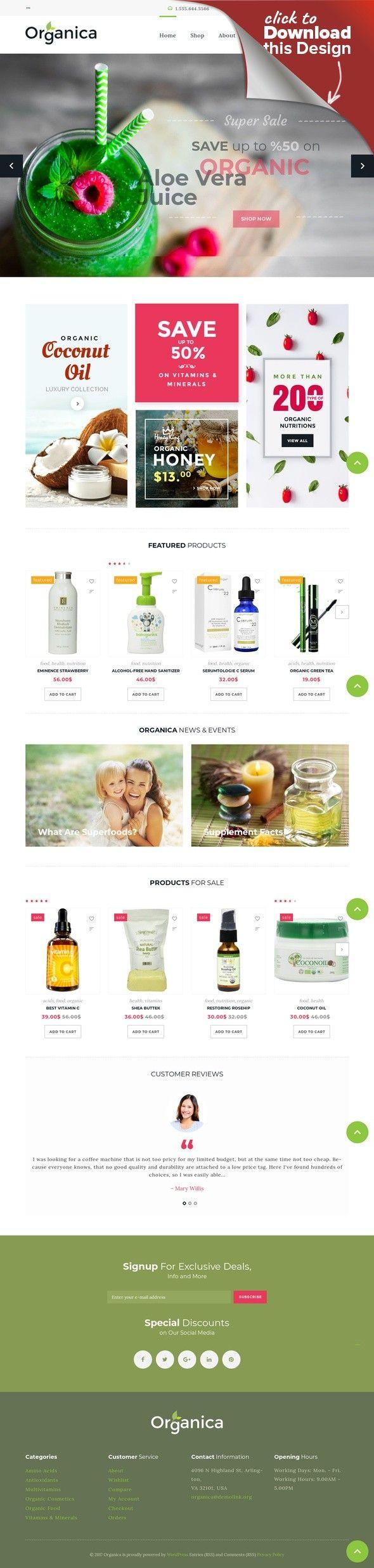 Responsives WooCommerce Theme für Kosmetik-Geschäft E-commerce ...