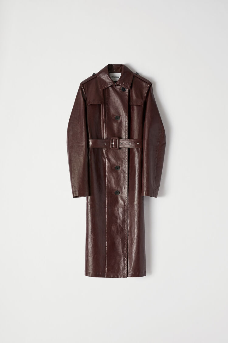 Leather Trench, dark brown in 2020 Jackets for women