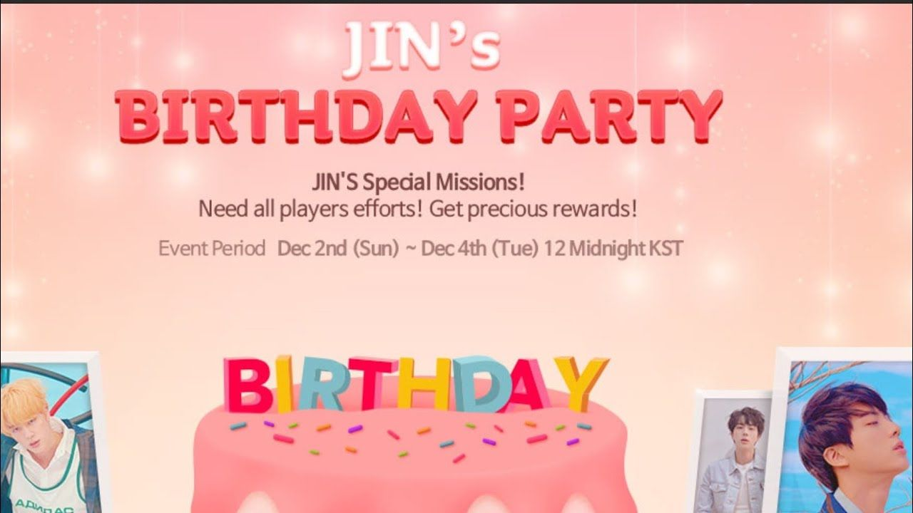 [SUPERSTAR BTS] JIN BIRTHDAY MISSIONS EXPLAINED WITH EXAMPLES! NO STRATEGY NEEDED. - YouTube #jinbirthday