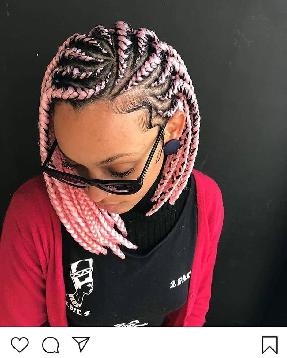 Latest Trend Hairstyles For 2020 2021 Hairstylefun Com Bob Braids Hairstyles Cornrow Hairstyles Hair Styles