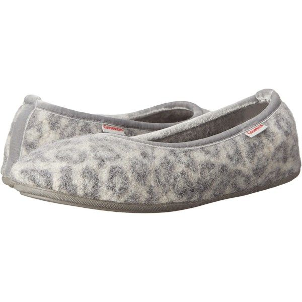 Giesswein Lucie (Snow Leopard) Women's Slippers ($36) ❤ liked on Polyvore  featuring