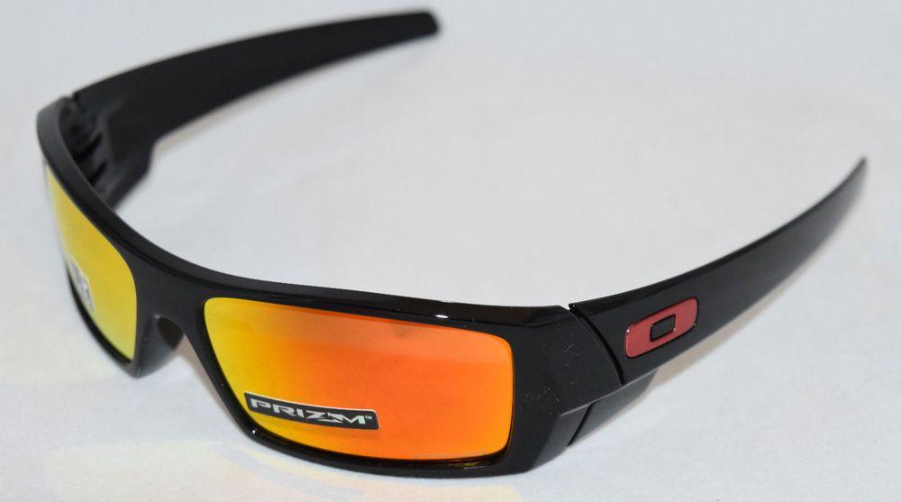 a1618ff166 eBay  Sponsored NEW OAKLEY GASCAN OO9014-4460 POLISHED BLACK W  PRIZM RUBY  LENS