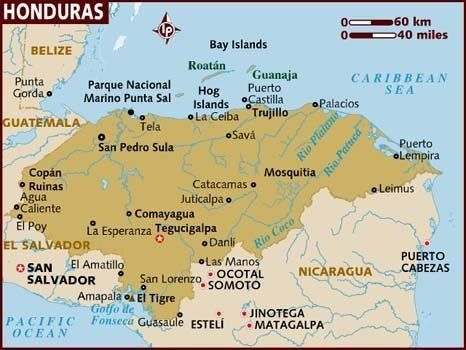 Mapa De Honduras Honduras Map Map Mayan Ruins Yucatan