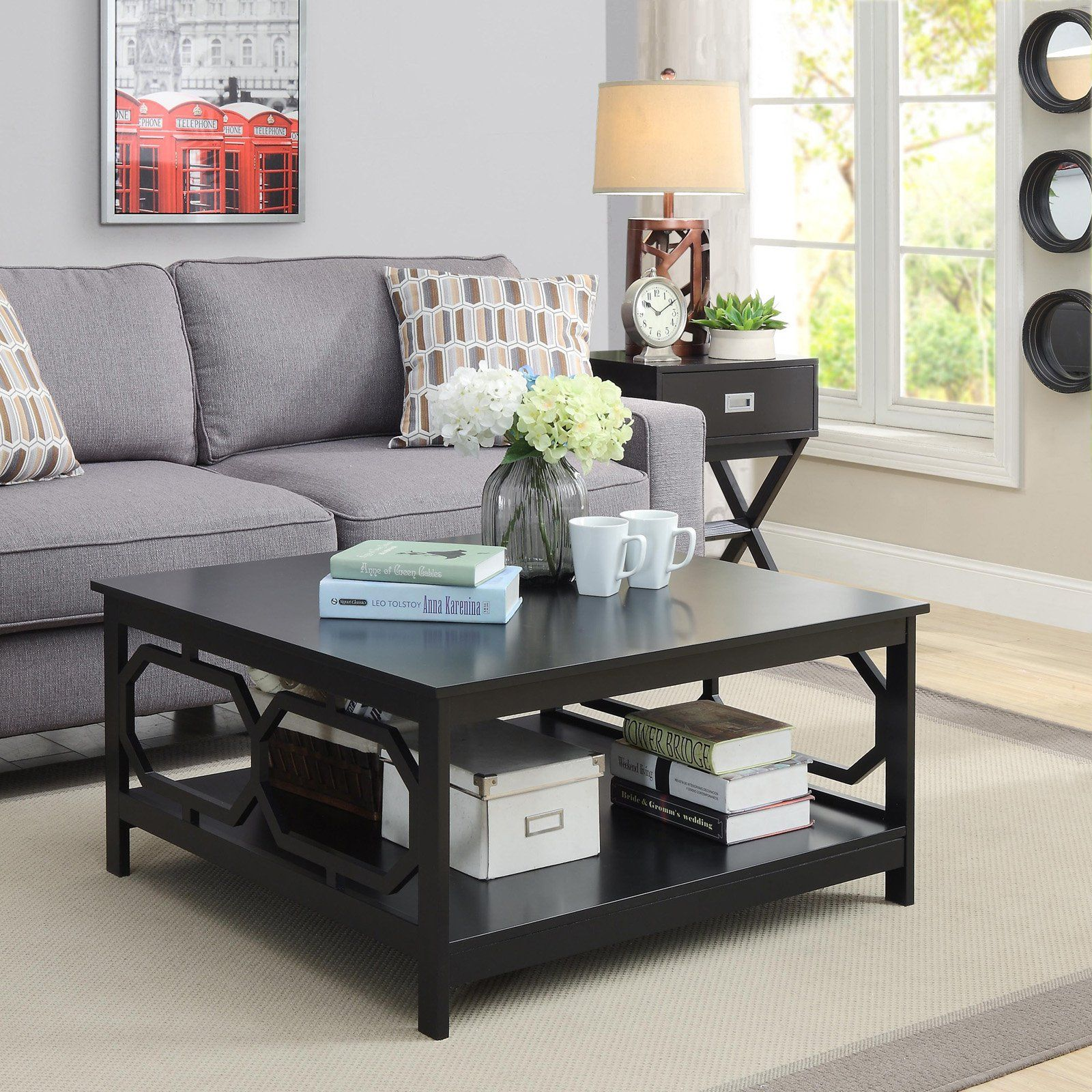 convenience concepts omega square coffee table  coffee