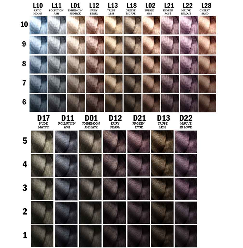 Majirel Glow By L Oreal Professionnel L Oreal Professionnel Hair Color Chart Loreal