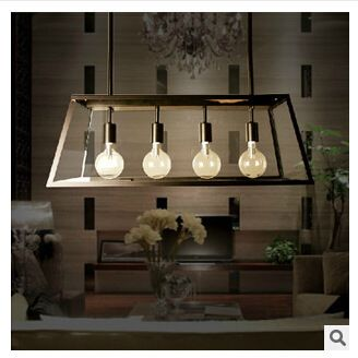 American village pendant lights cafe restaurant dining table iron american village pendant lights cafe restaurant dining table iron rectangular glass box four led lamp pendant for study room bar aloadofball Gallery