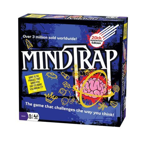 Outset Media Mindtrap 20th Anniversary Edition Game Purple 20th Anniversary Anniversary Picture Puzzles