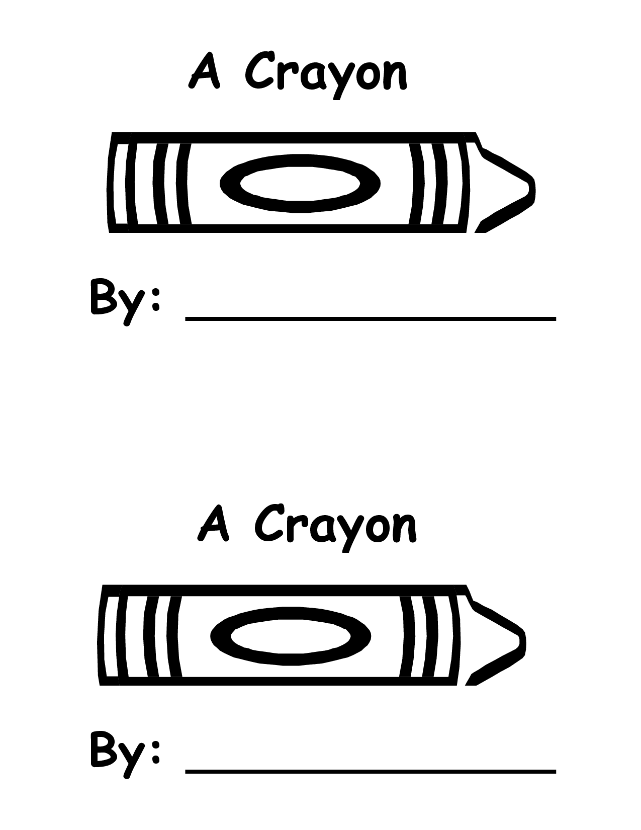 Crayola crayon outline crayon book template scrapbook for Crayon labels template