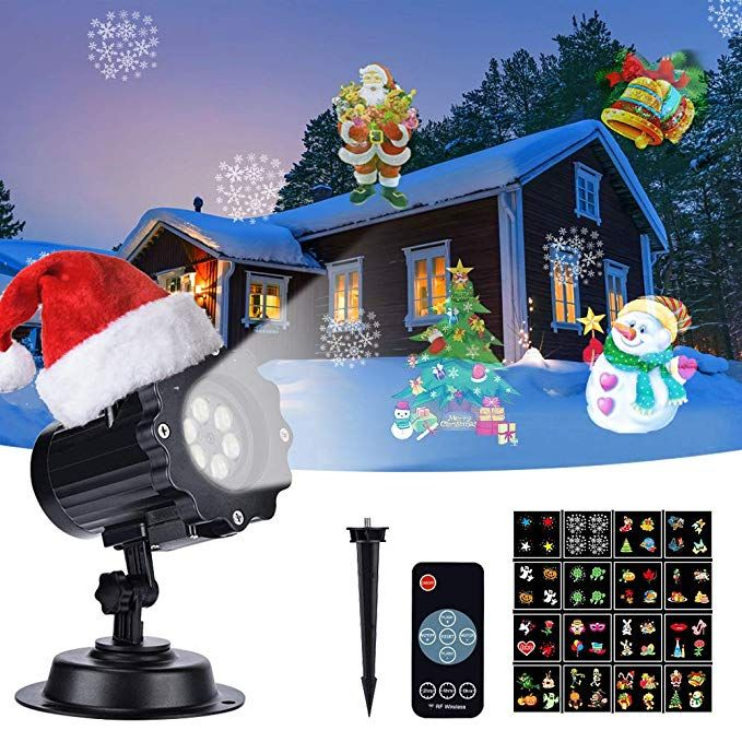 Christmas Light Projector, EECOO Mini Waterproof Projection Lamp for