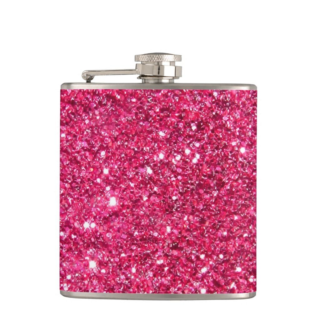 Glamour Hot Pink Glitter Hip Flask | Zazzle.com
