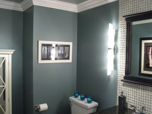 Ceiling paint is a light silver metallic paint by ralph for Bathroom ceiling color