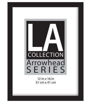 La Collection Flat Top Frame 12x16 Black Picture Frames Frames