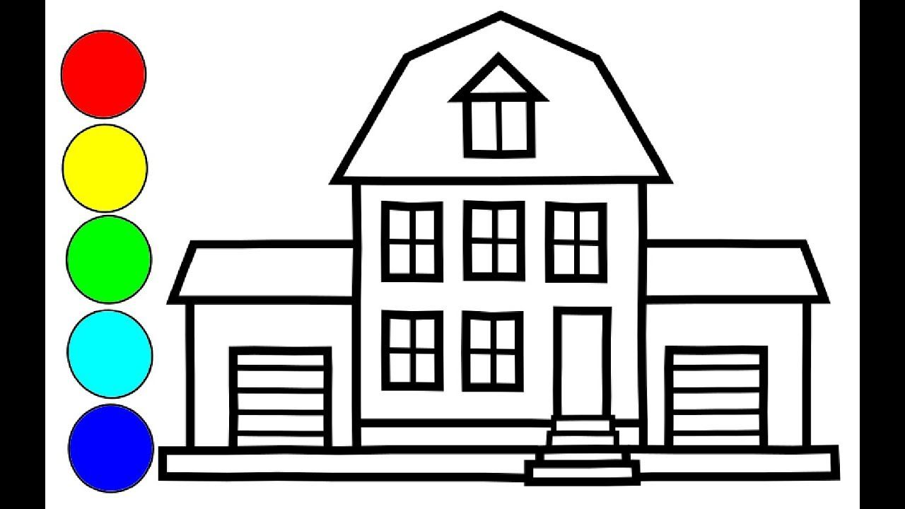 Zeichnen Und Malen Sie Das Bunter Haus Fur Kinder Kleinkinder Kunstle Haus Malen Haus Fur Kinder Malen Mit Kindern