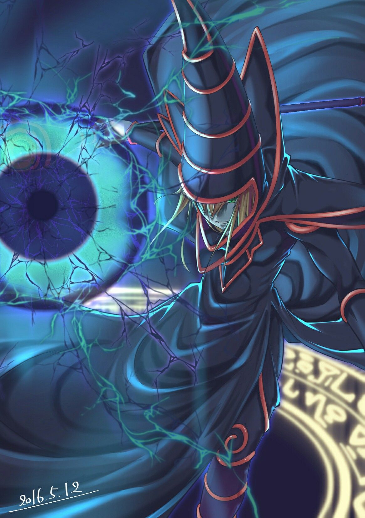 Dark Magician phone wallpaper Yugioh, Anime, Geek