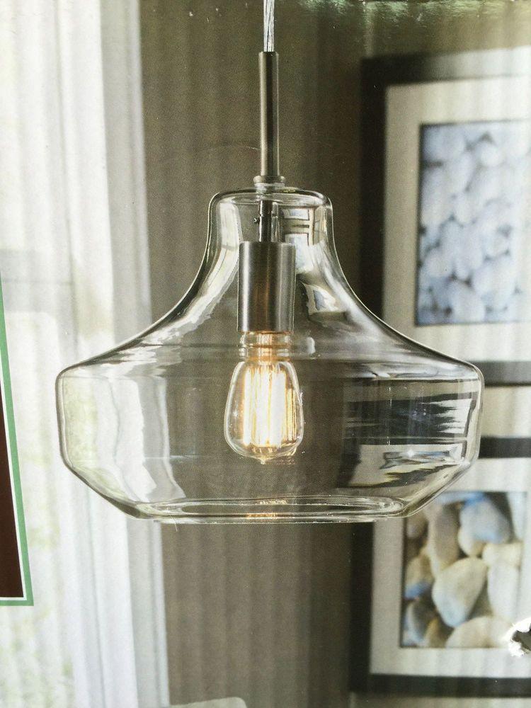 Allen Roth 12 Diamter Cear Glass Pendant Light Kit Edison Bulb