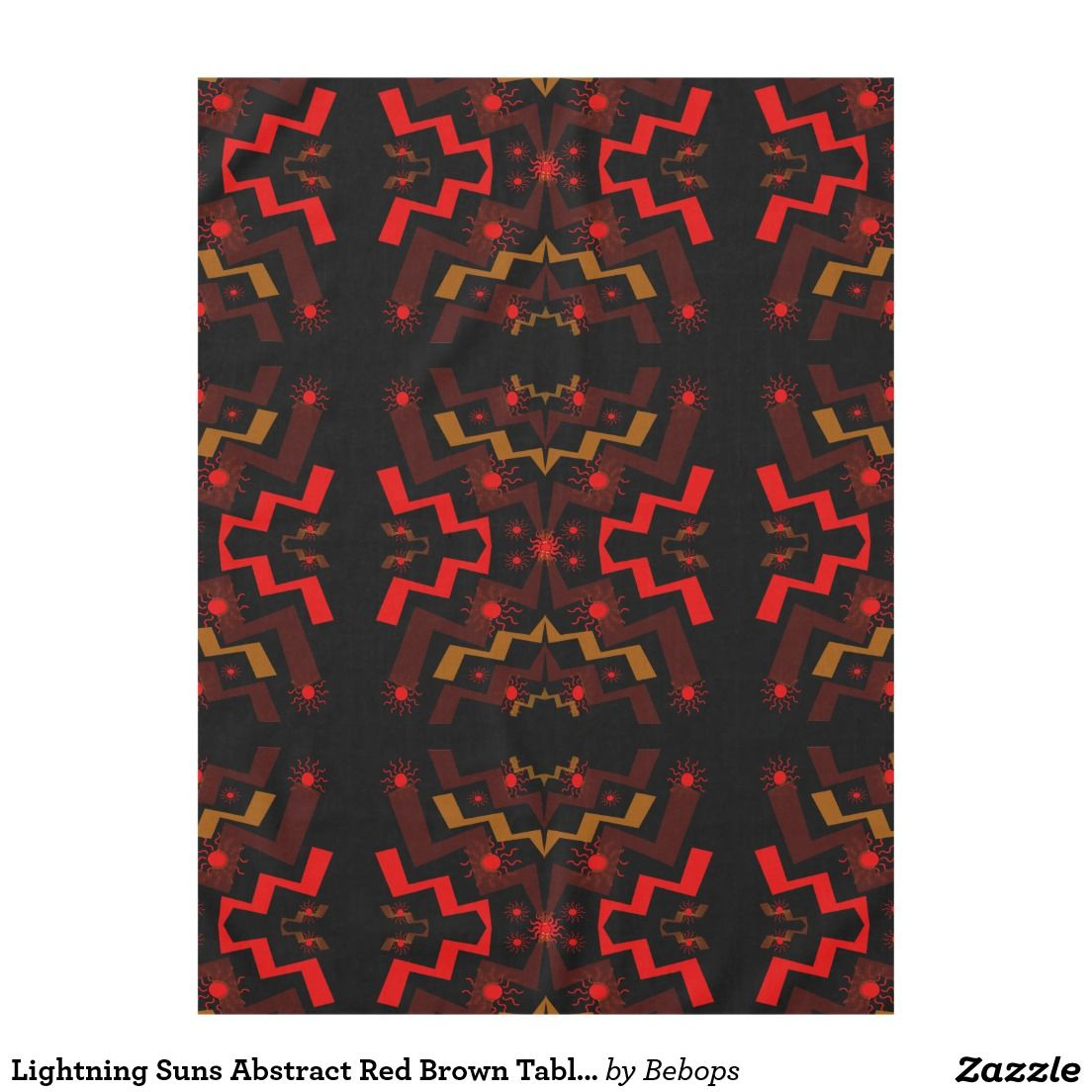 #Lightning #Suns Abstract Red Brown Tablecloth @bebopsplace