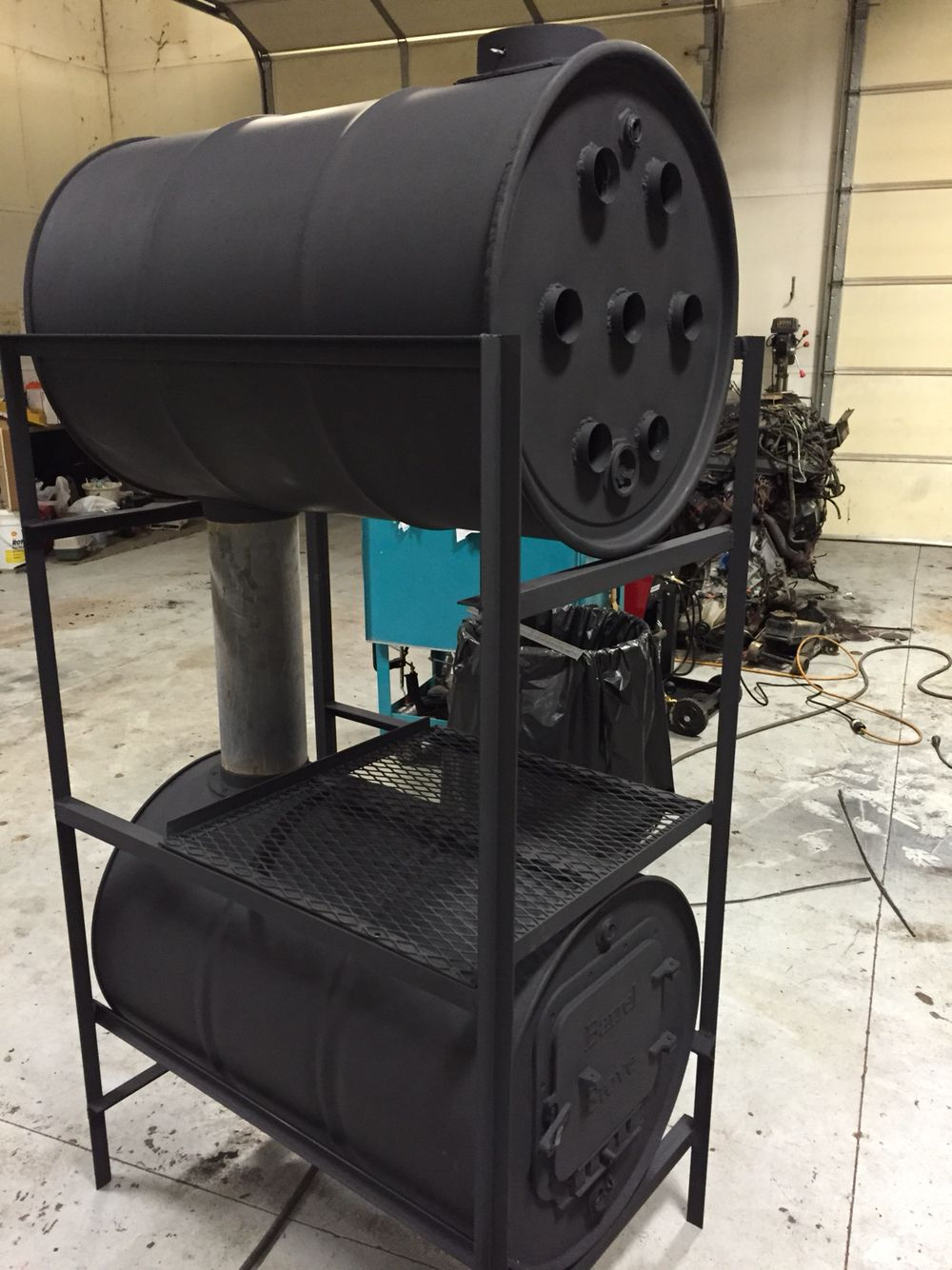 Front Of Stove Barrel Heater Stove In 2019 Barrel