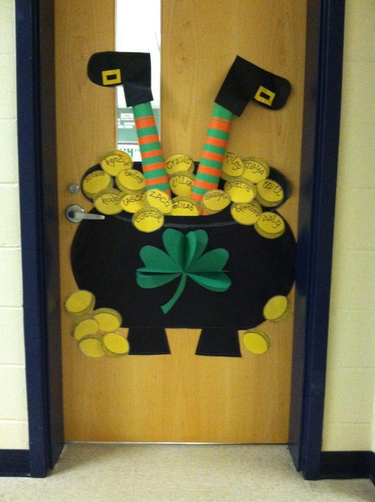 Leprechaun Classroom Visit Ideas ~ Happy st patrick s day class door classroom decor