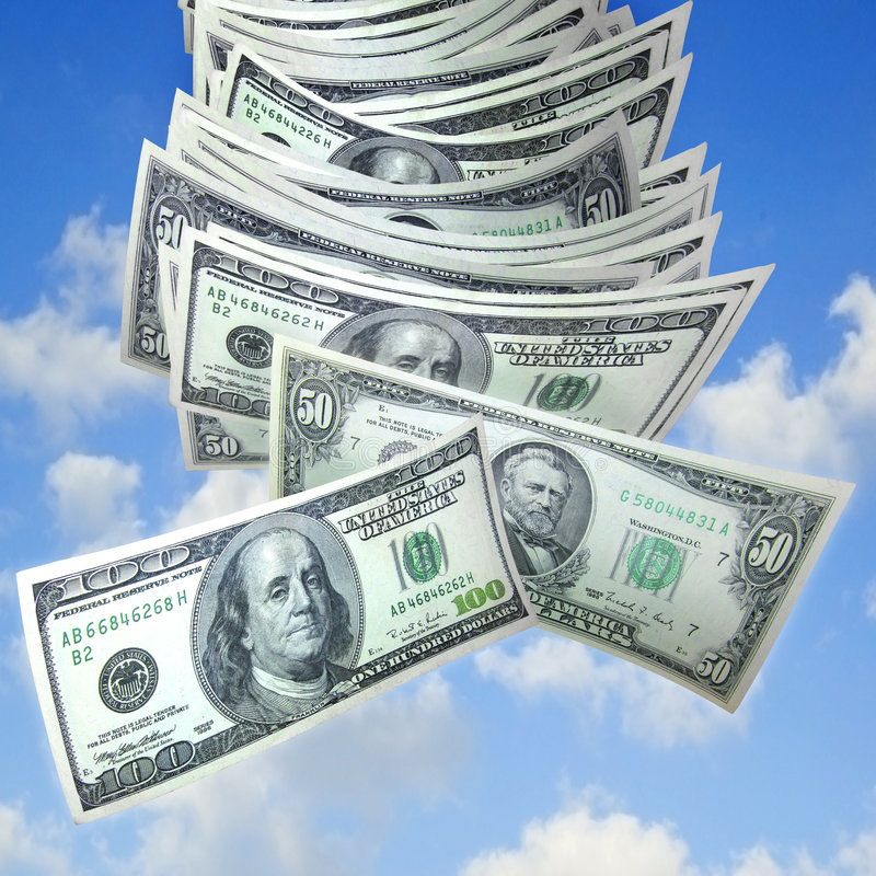 Money Falling From Sky A Stack Of One Hundreds And Fifty Dollar Bills Fall Out Sponsored Stack Hundreds Sky Money F Money Images Money Money Bill