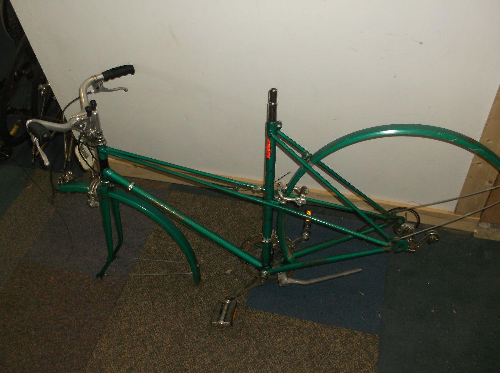 Vintage 55cm Raleigh Sprite mixte road bike frame + fenders + parts ...