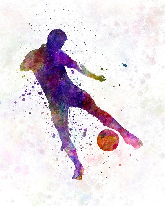 Man soccer football player 02 8x10 in.to 12x16 in. by SPPRINTS ...