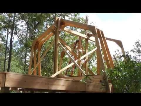 Raising Homemade Gambrel Barn Trusses By Yourself No Crane Rental Necesary Gambrel Barn Gambrel Building A House