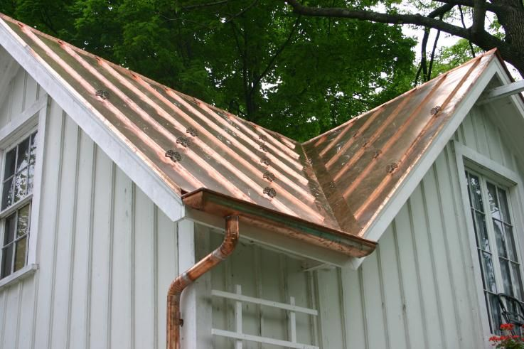 Standing Seam Copper Roof New Double Locked With High Back Round