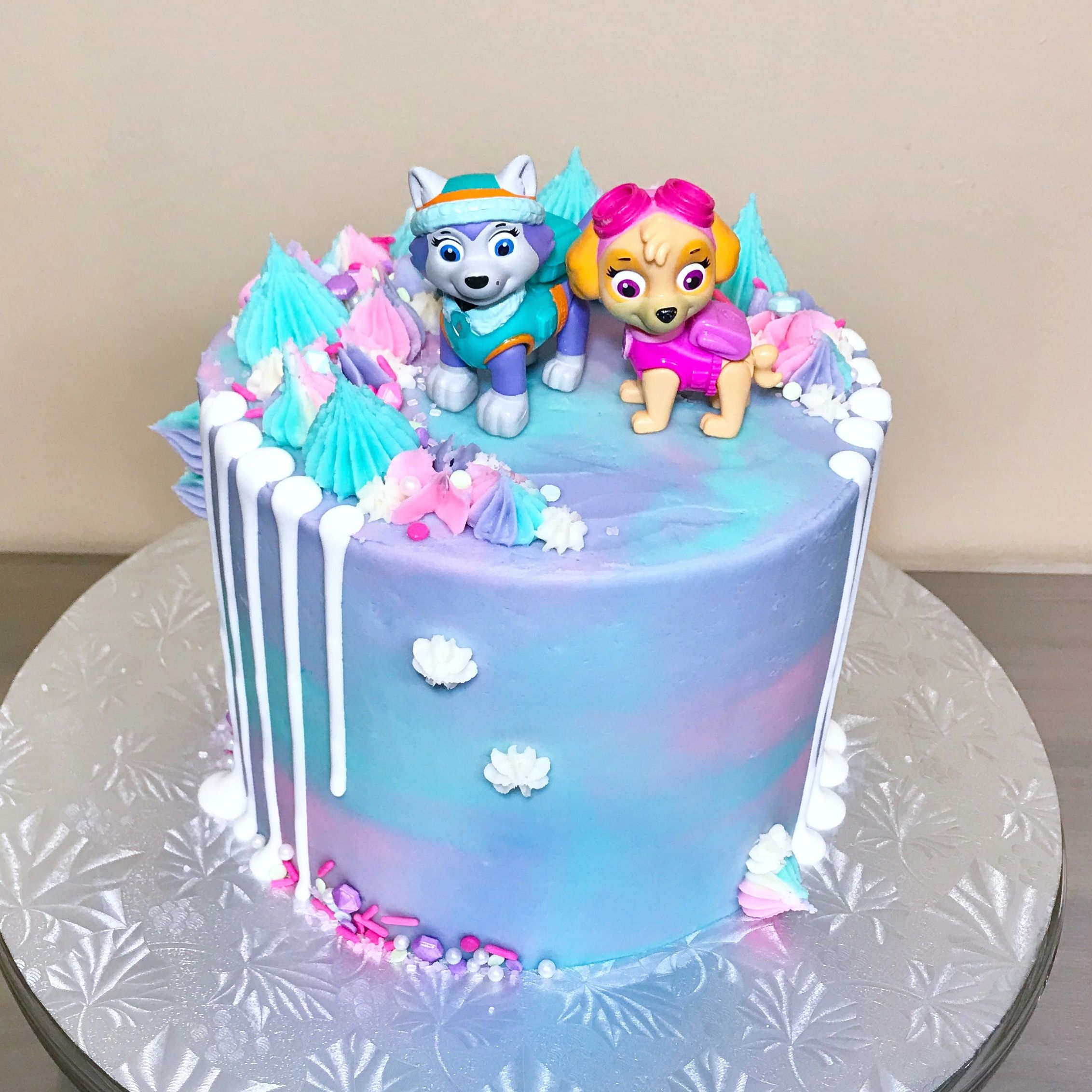 Paw Patrol Everest And Sky Cake From Sakurabakingco With Images