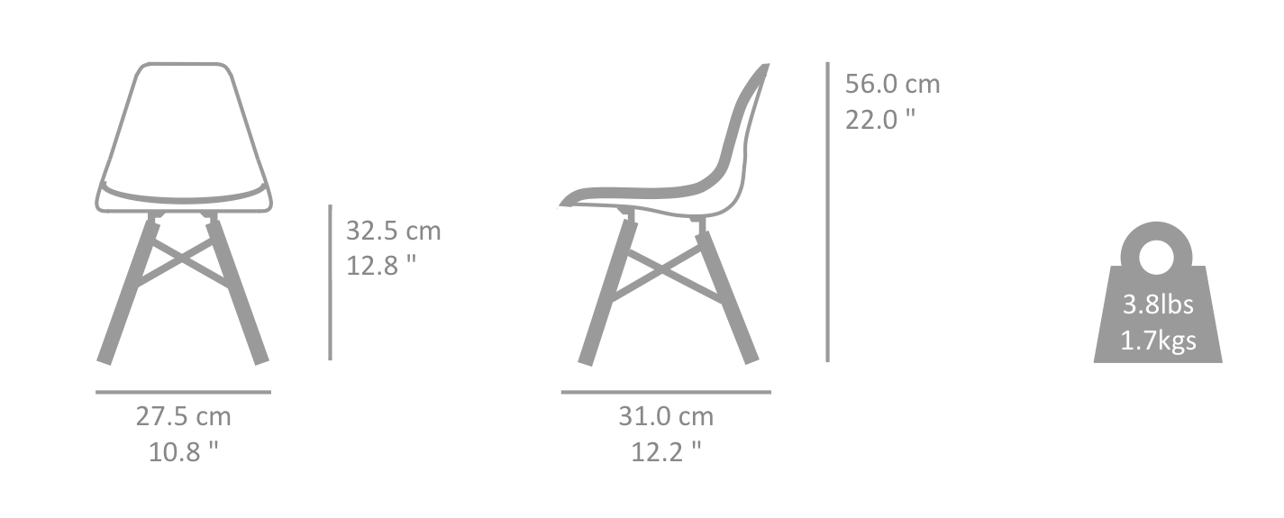 Eames wire chair dimensions - Eames Chairs For Children Eames Kids Dsw Replica Measurements