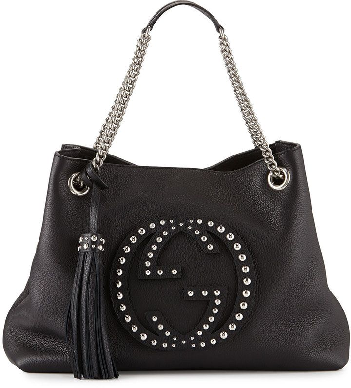 71a453c5954 Gucci Soho Chain-Strap Studded Leather Shoulder Bag