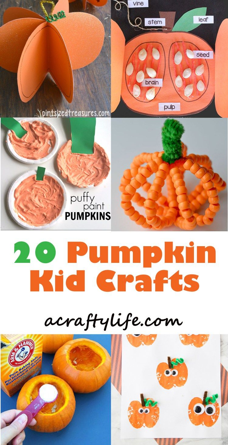 Pumpkin Kid Crafts - Celebrate Fun Fall Activities #autumncrafts